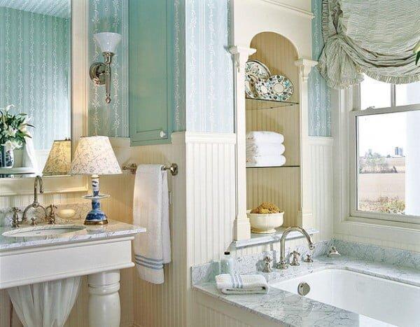 country banyo dekorasyon modelleri