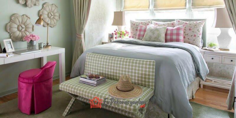 country tarzi yatak odasi dekorasyon modeli 2019