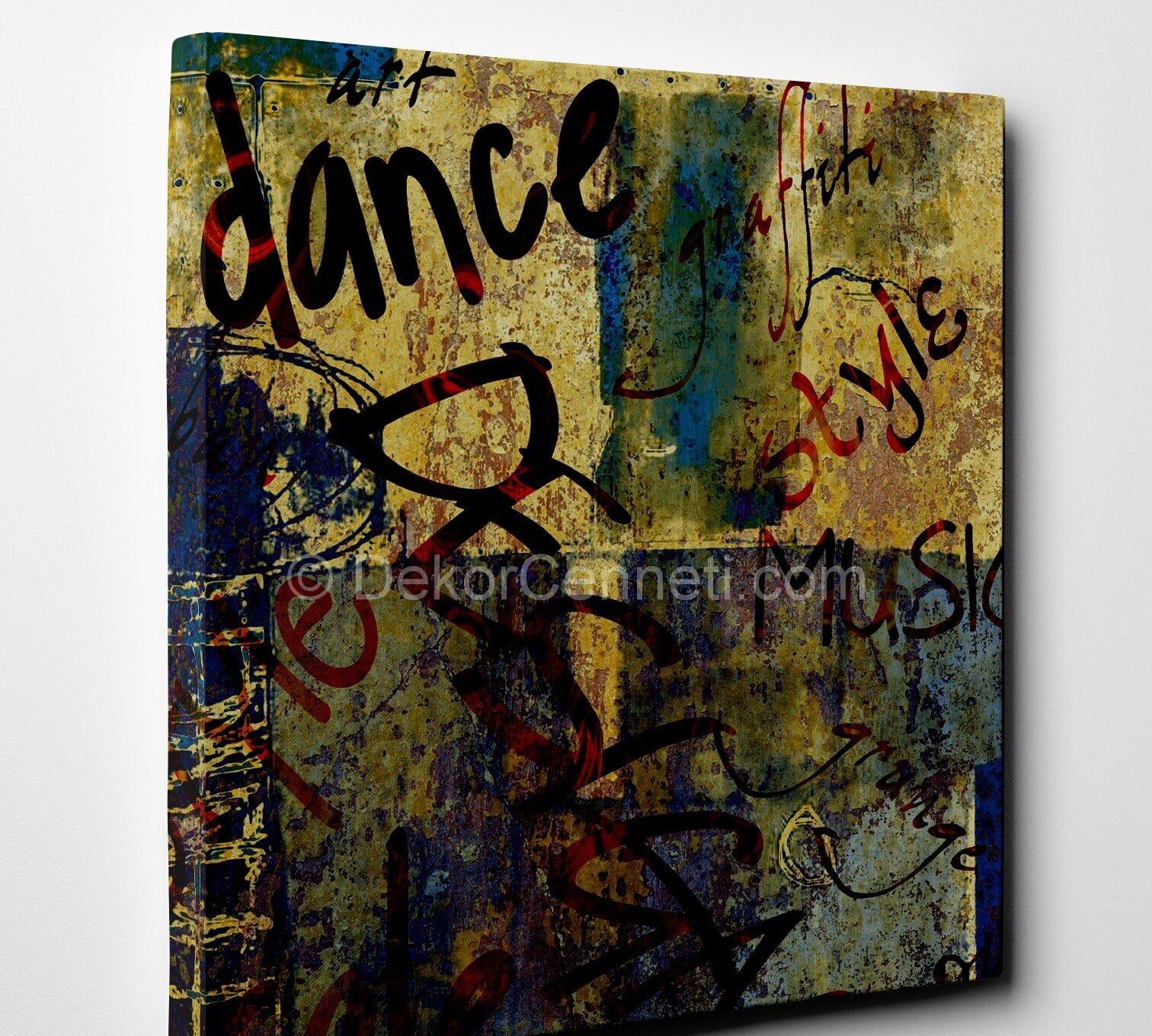 dance-vintage-canvas-tablo