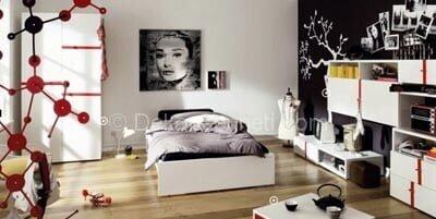 Değişik gri genç odası Modelleri