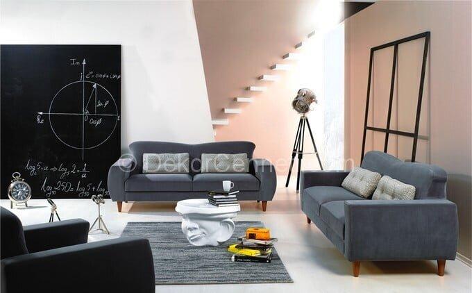 Değişik gri koltuk ile uyumlu halı Fotoları