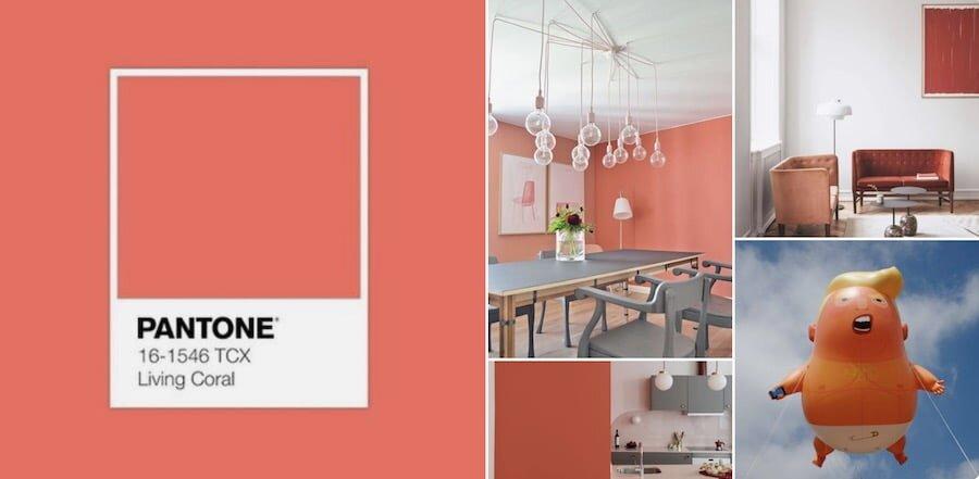 dekorasyonda 2019 Pantone livin coral rengi modasi