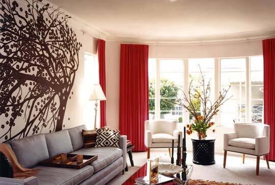 dekorasyonda kırmızı renk kullanımı