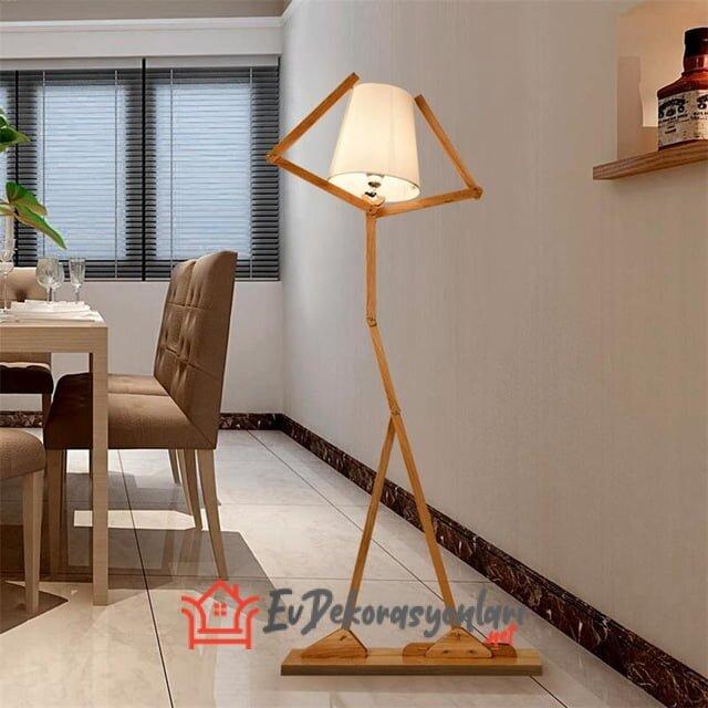 dekoratif ahsap lambader modeli