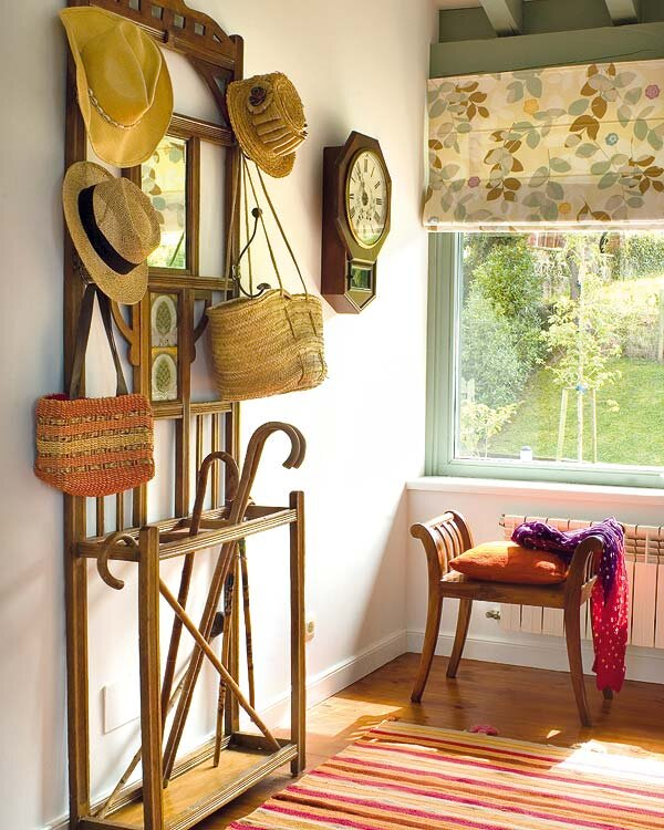 dekoratif ahsap vestiyer modeli