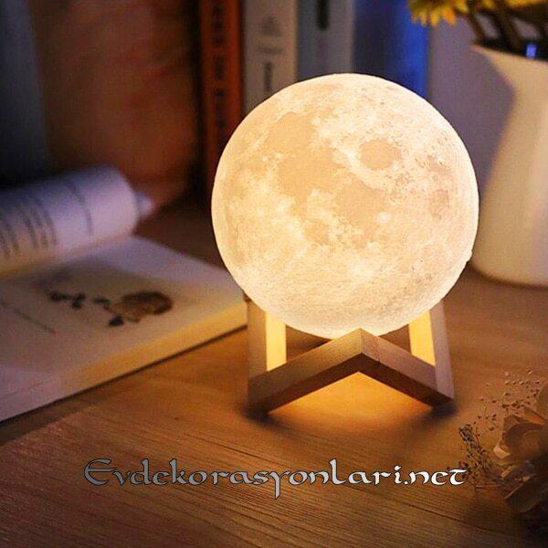 dekoratif ay modeli cocuk gece lambasi modeli 2019