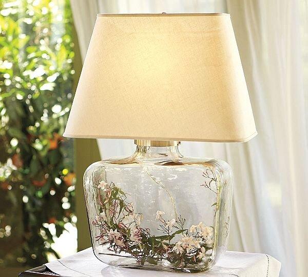 dekoratif cam govdeli abajur modeli