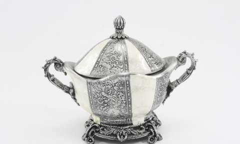 dekoratif gümüş şekerlik