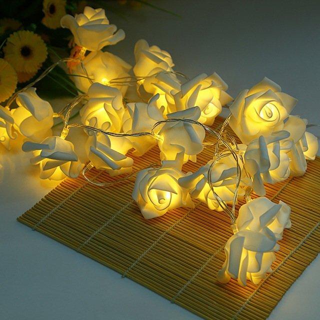 dekoratif gul solar bahce aydinlatmasi modeli