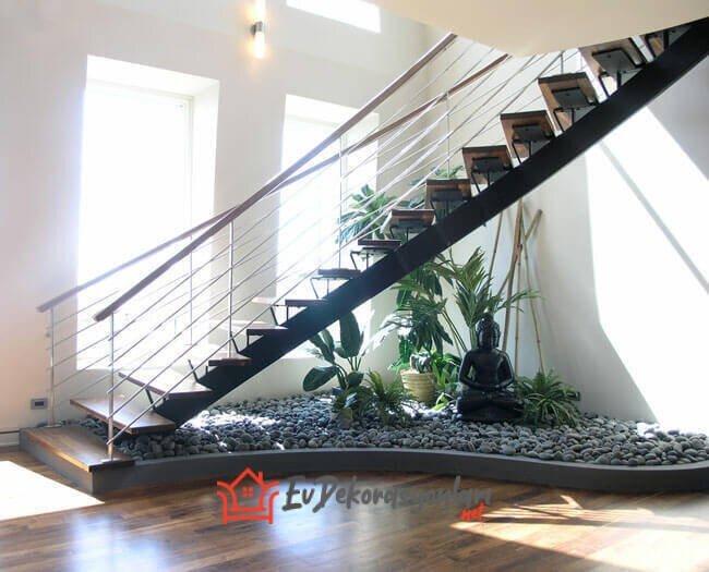 dekoratif merdiven altı dekorasyon modeli 2019