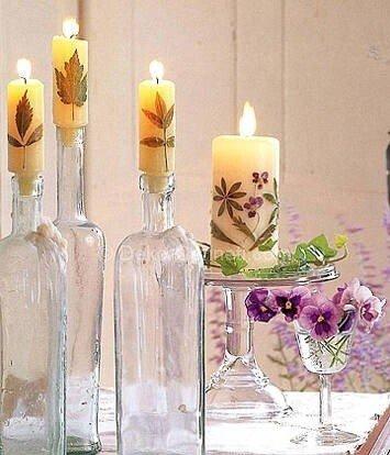 dekoratif mum uygulamaları