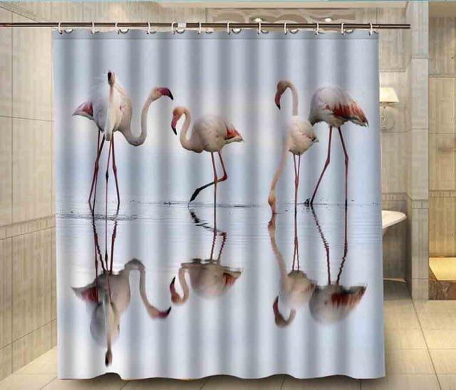 dekoratif resim baskili dus perdesi modelleri 2018