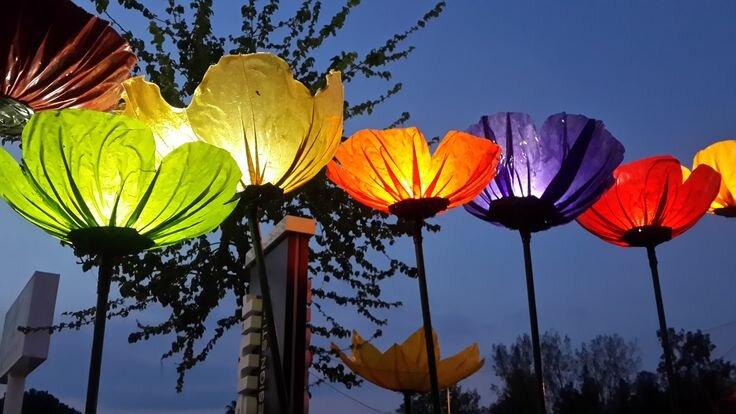 dekoratif solar cicek bahce aydinlatmalari
