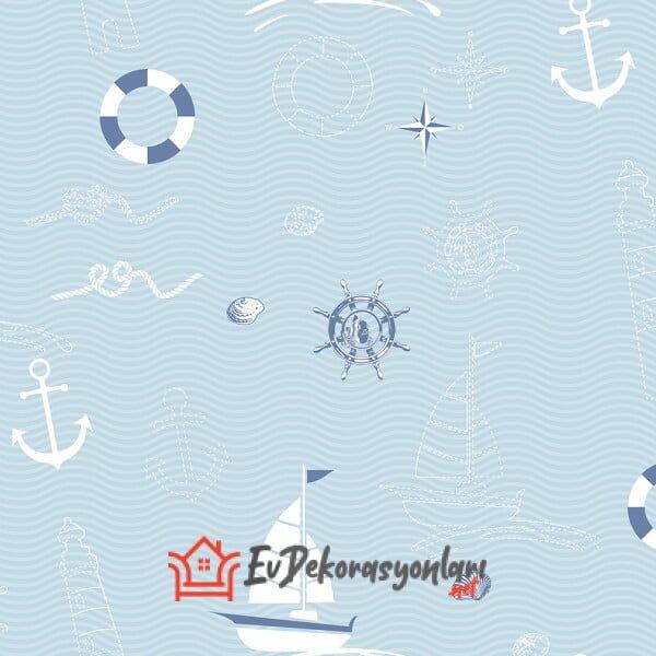 denizci temali erkek bebek odasi duvar kagidi modeli