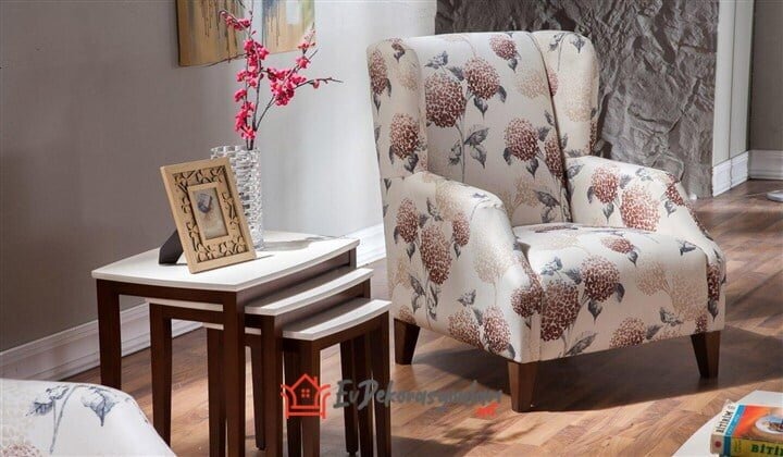 desenli dekoratif berjer koltuk modeli