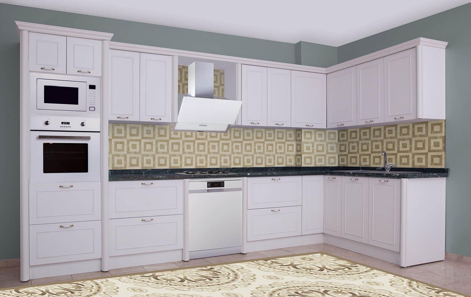 Desenli Mutfak Dolabı