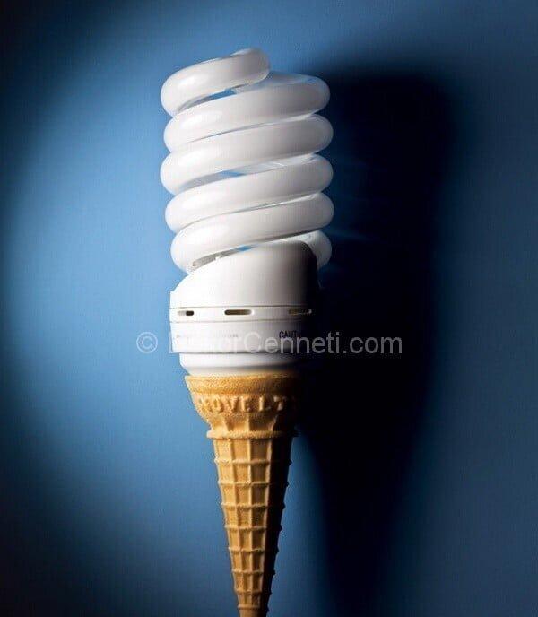 dondurma şeklinde lamba