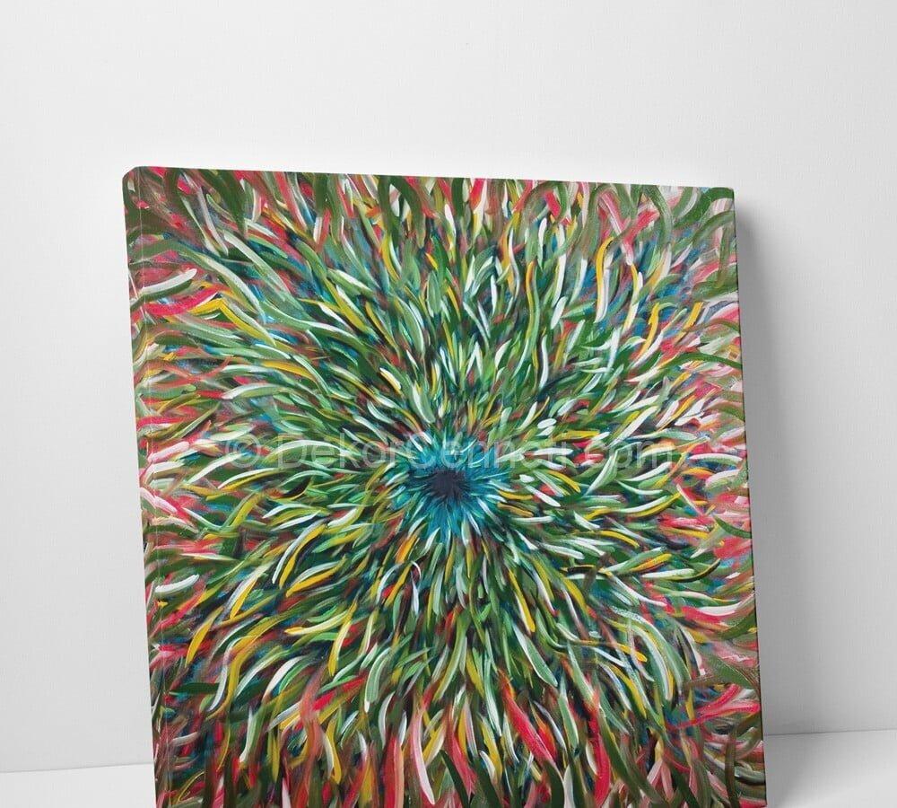 Döngü Abstract Canvas Tablo