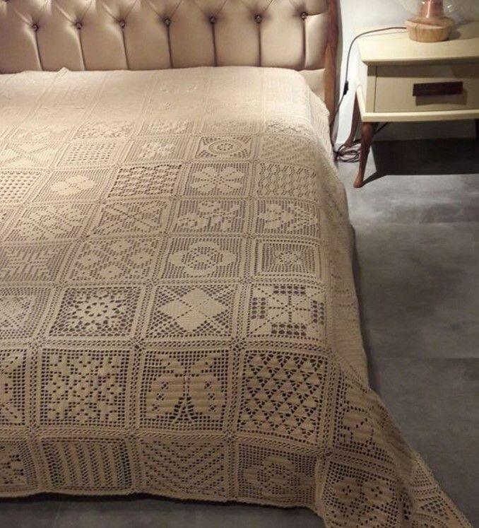 el yapimi dantel yatak ortusu modeli