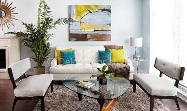 en güzel modern salon dekorasyonu