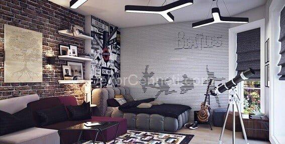 En Güzel gri beyaz genç odası Resimleri