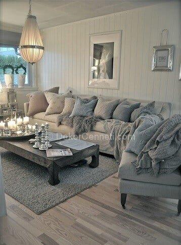 En Güzel gri koltuk ile uyumlu halı Fotoğrafları