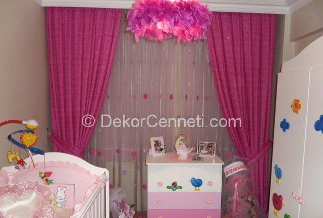 En Güzel kız çocuk odası perdesi Görselleri