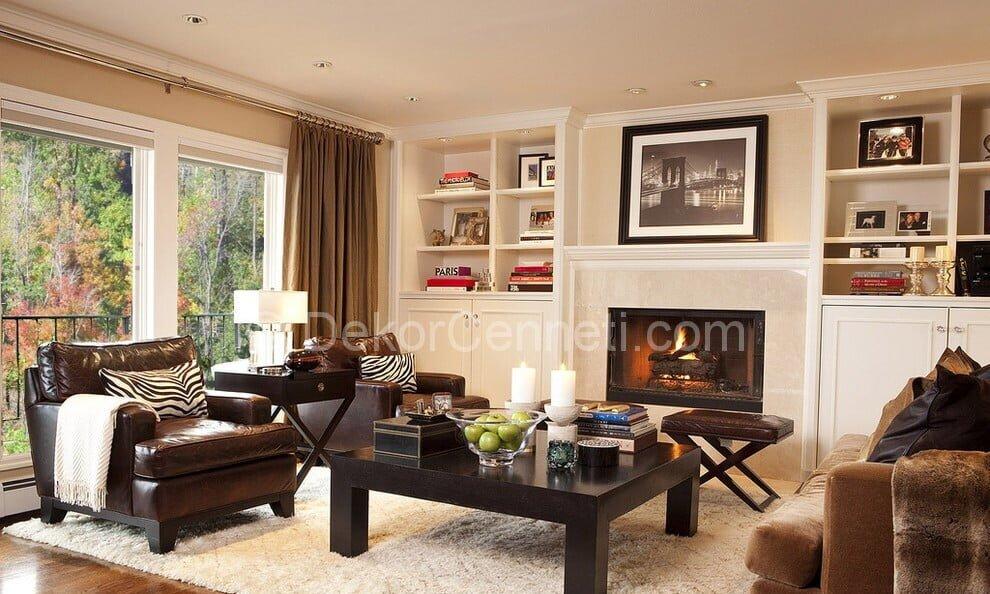 En Güzel oturma odası dekorasyonu Görselleri