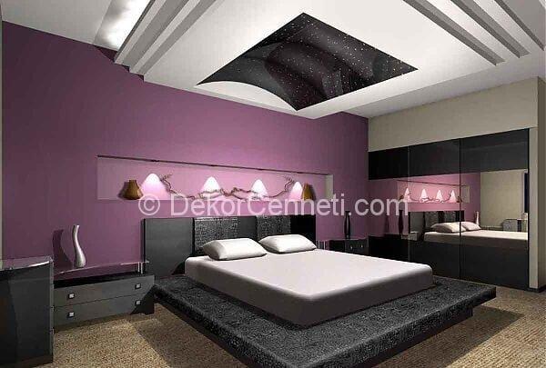 En Güzel yatak odası asma tavan Fotoları