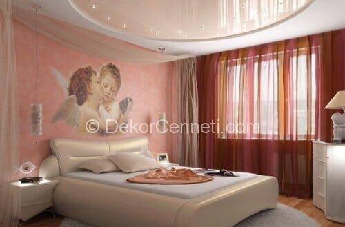 En Güzel yatak odası asma tavan Modelleri