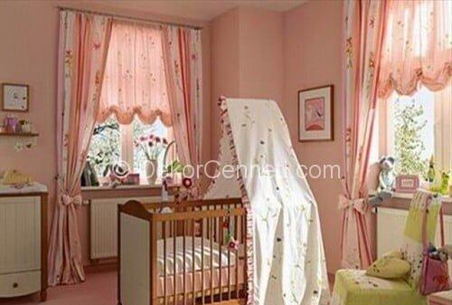 En Son bebek odası perdeleri linens Galeri