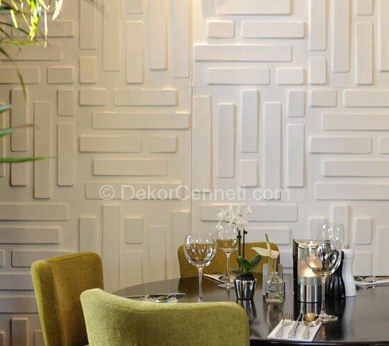En Son dekoratif duvar kaplama panelleri Modelleri