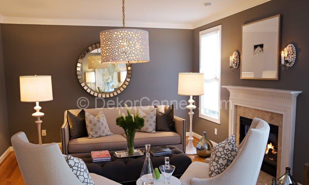 En Son oturma odası dekorasyonu Fotoğrafları