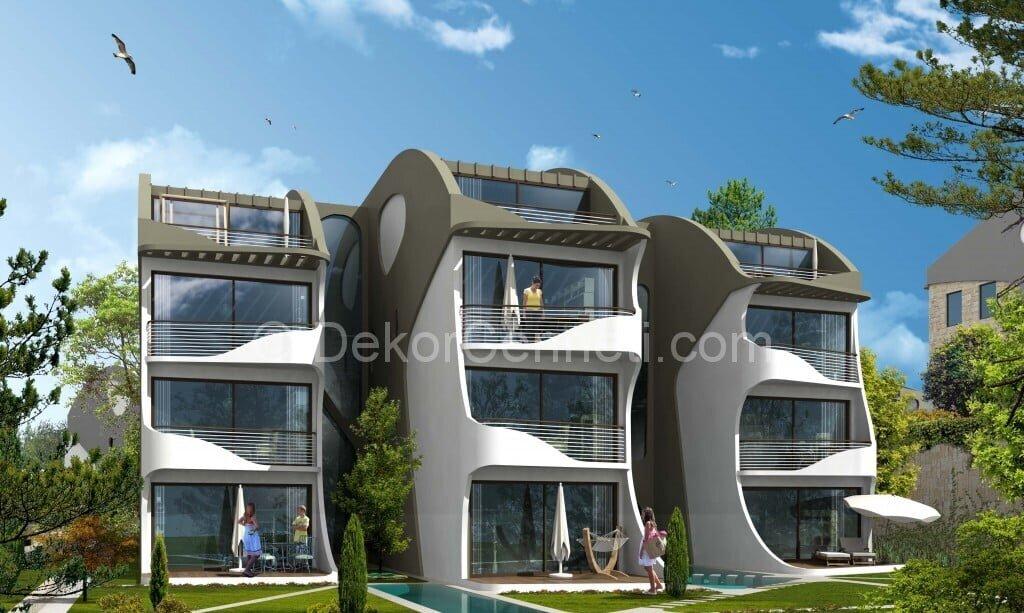 En Son villa mimari projeleri Resimleri