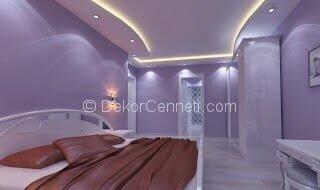 En Son yatak odası asma tavan Fotoğrafları