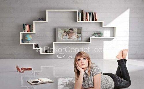 En Yeni modern duvar raf modelleri Resimleri