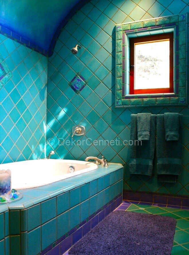En Yeni mor banyo dekorasyonu Galeri
