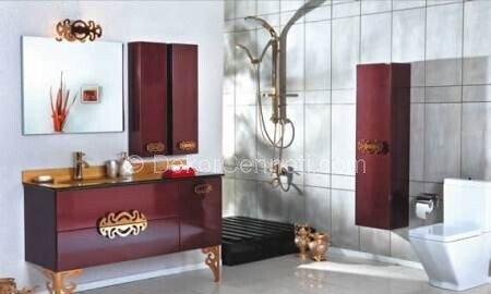 En Yeni mor banyo dolabı Resimleri