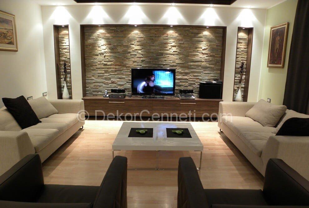 En Yeni oturma odası dekorasyonu Modelleri