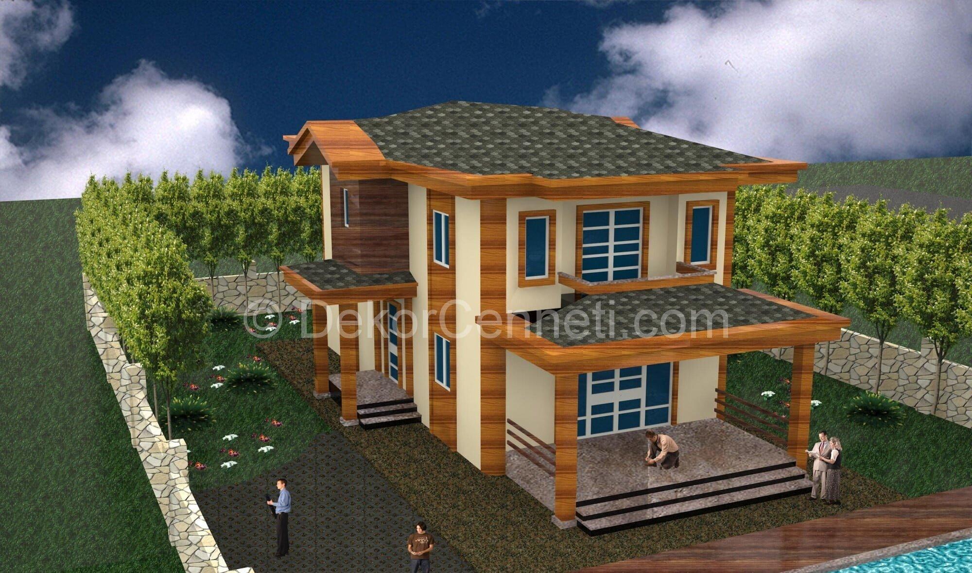 En Yeni villa mimari proje dwg Fotoğrafları