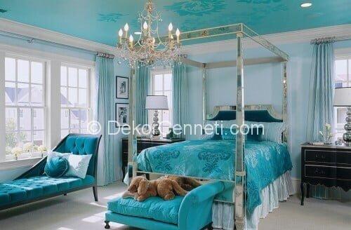 En Yeni yatak odası için renkler Resimleri