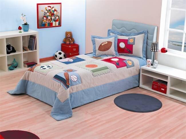 erkek cocuk odasi yatak ortusu modeli