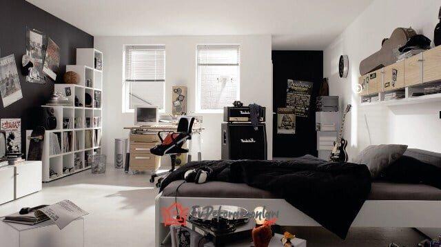 erkek genc odasi dekorasyon modeli