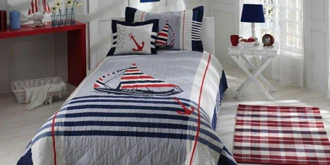 erkek genc odasi yatak ortusu modeli