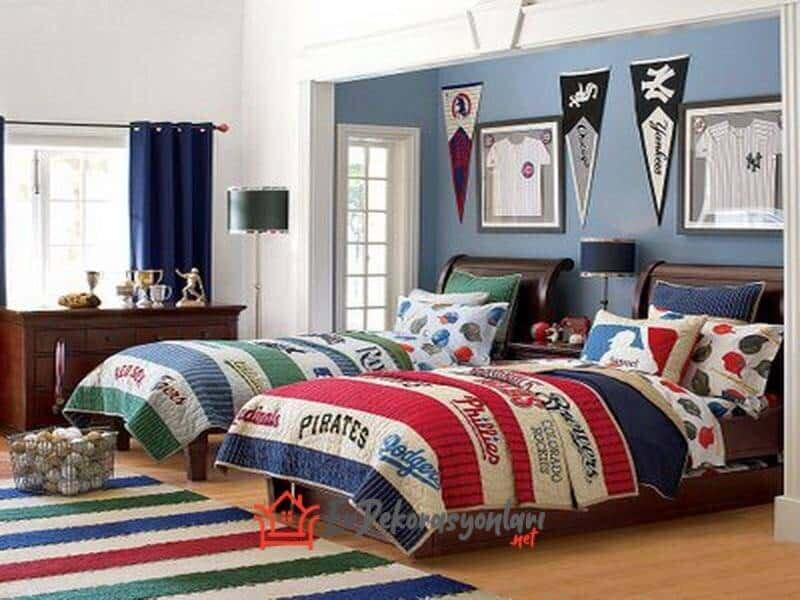 erkek kardes odasi dekorasyon modeli