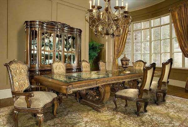 eski-moda-klasik-yemek-odasi-takimlari