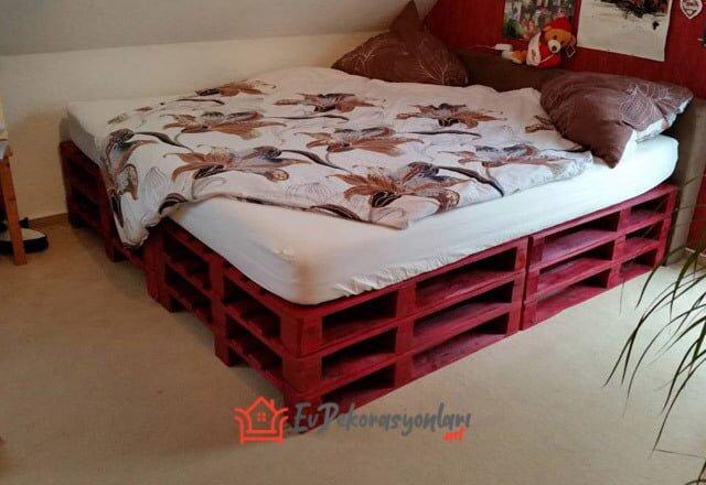 eski paletten yatak odasi mobilyasi
