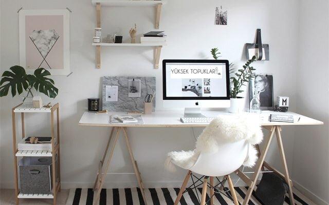 etkileyici home ofis dekorasyonlari