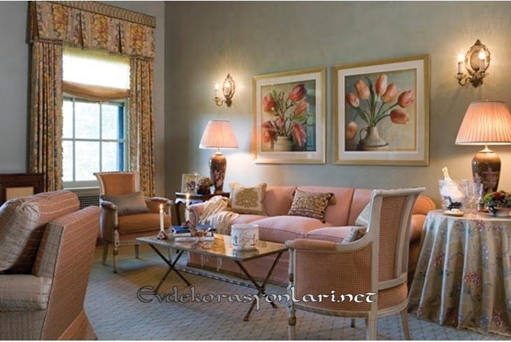 etkileyici vintage salon dekorasyon modelleri 2019
