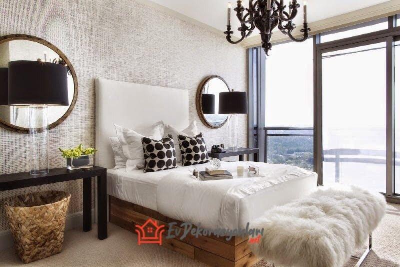 etkileyici yatak odasi bank modeli